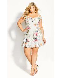 City Chic - Spring Fields Dress - Lyst