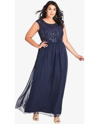 City Chic Sweet Love Maxi Dress - Blue