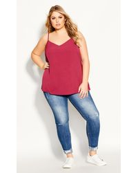 City Chic - Simply Sweet Cami - Lyst