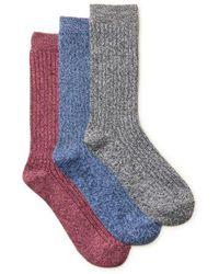 Clarks - Womens 3-pack Super Soft Socks - Lyst