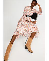 Claudie Pierlot Robe chemise longue - Rose