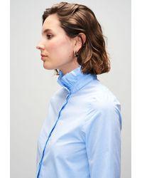 Claudie Pierlot Chemise coton à col victorien - Bleu