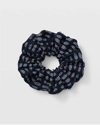 Club Monaco Navy Multi Scrunchie - Blue