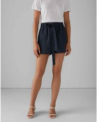 Club Monaco Blueberry Belted Pull-on Shorts