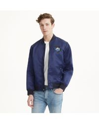 Club Monaco - Embroidered Floral Bomber - Lyst