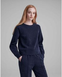 Club Monaco Navy Scuba Sweatshirt - Blue
