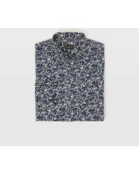Club Monaco - Shadow Slim-fit Button-down Collar Printed Cotton-poplin Shirt - Lyst