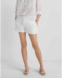Club Monaco White Cord Tie Shorts