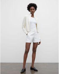 Club Monaco White Refined Shorts