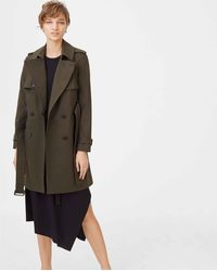 Club Monaco Olive Matie Trench - Green