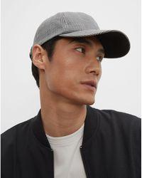 Club Monaco Gray Mini Check Cm Mini Check Baseball Cap