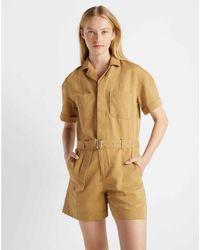 Club Monaco - Ginger Short Sleeve Utility Jumpsuit - Lyst