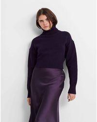 Club Monaco Purple Easy Turtleneck Sweater