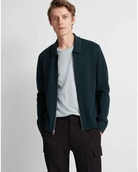 Club Monaco Green Milano Full-zip Merino Jacket