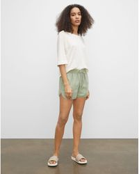 Club Monaco Green Linen Jog Shorts