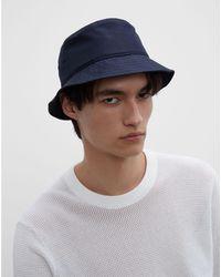 Club Monaco Dark Navy Cm Solid Bucket Hat - Blue