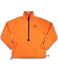 ADER error - Shearling Half Zip-up Pullover - Lyst