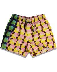 Dries Van Noten X Len Lye Phibbs Pattern Swimwear - Multicolour