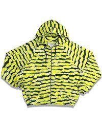 Dries Van Noten X Len Lye Hamis Printed Hoodie - Yellow