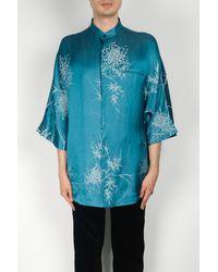 Haider Ackermann Kimono S/s Shirt - Blue