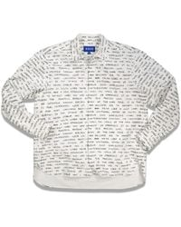 ADER error Overall Text Printing Shirt - Multicolor