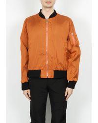 424 Silk Chiffon Bomber - Orange