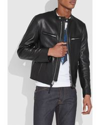 a7bcb3b517b Lyst - COACH Painted Shearling B3 Bomber Jacket in Black for Men