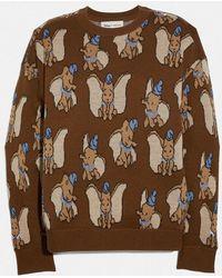 COACH Disney X Dumbo Jacquard Sweater - Brown