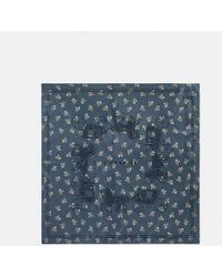 COACH - Horse And Carriage Silk Square Scarf - Lyst