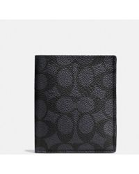 5ca03d52ef93 COACH - Slim Wallet In Signature Canvas - Lyst
