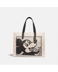 COACH : Cabas 42 Disney Mickey Mouse X Keith Haring - Noir