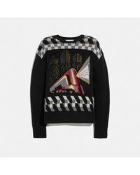 COACH Nyc Jacquard Sweater - Nero
