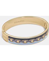COACH - Signature Chain Hinged Bangle - Lyst