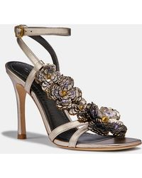 142ac85c2a COACH - Bianca Sandal With Leather Paillettes - Lyst