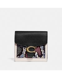 COACH Tabby Small Wallet With Snakeskin Detail - Multicolour