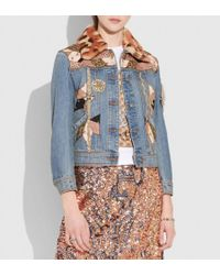 COACH - Embellished Quilted Patchwork Denim Jacket - Lyst