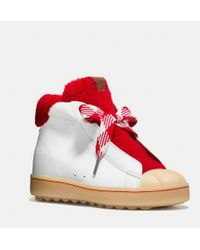 COACH - High Top Hiker With Shearling - Lyst