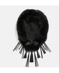 COACH Dream Catcher Bib With Hood - Black