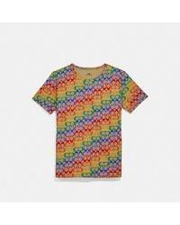 COACH Rainbow Signature T-shirt - Multicolor