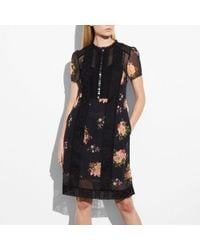 COACH - Lacework Dress - Lyst