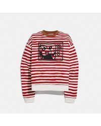 COACH : Col rond Disney Mickey Mouse X Keith Haring - Rouge