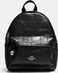 845d418467 ... shopping coach mini campus backpack in croc embossed leather lyst 19335  3889b