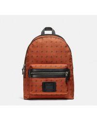 COACH - Academy Backpack With Dot Diamond Print - Lyst