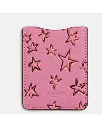 COACH - Phone Pocket Sticker With Star Print - Lyst