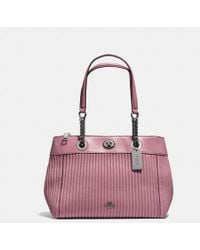 COACH - Turnlock Edie Carryall With Quilting - Lyst