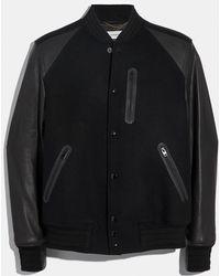 COACH Rexy Varsity Jacket - Black