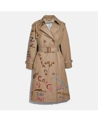 COACH - Embroidered Trench - Lyst