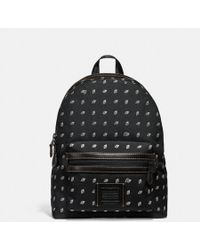 COACH - Academy Backpack In Cordura® Fabric With Dot Diamond Print - Lyst