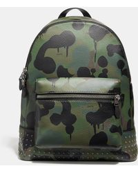 COACH - League Backpack With Wild Beast Print And Studs - Lyst