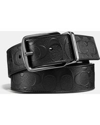 COACH - Wide Harness Cut-to-size Reversible Belt In Signature Leather - Lyst